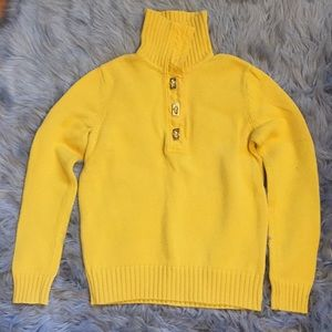 Mustard yellow Ralph Lauren turtleneck sweater